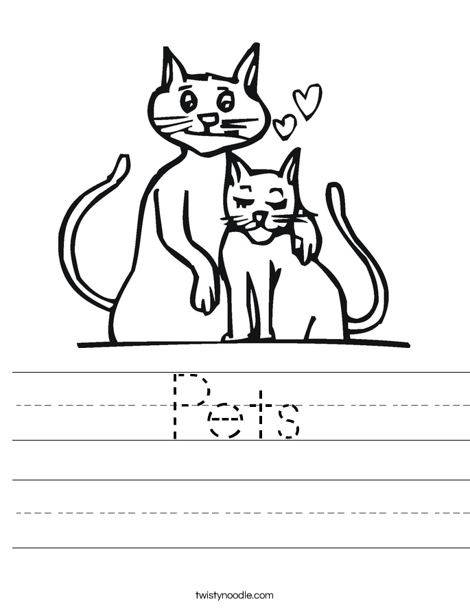 Pets Worksheet - Twisty Noodle