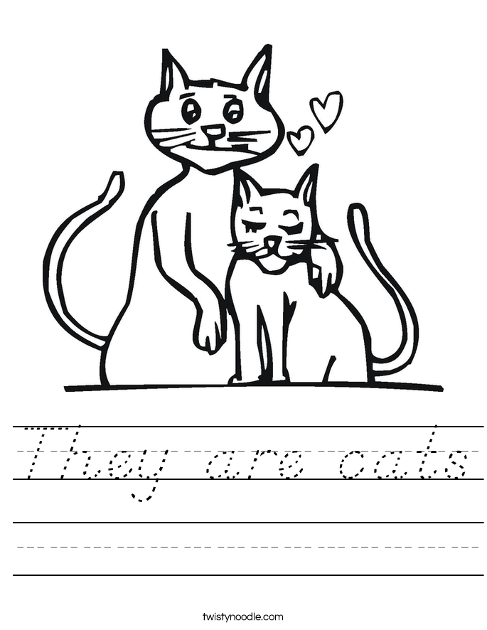 They are cats Worksheet