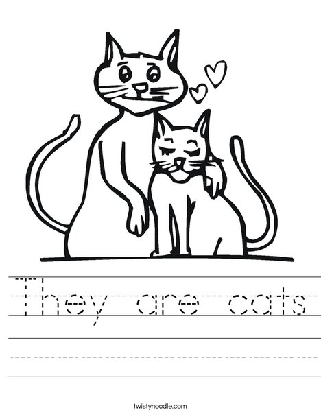 They Are Cats Worksheet Twisty Noodle