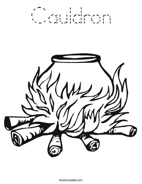 Cauldron Coloring Page