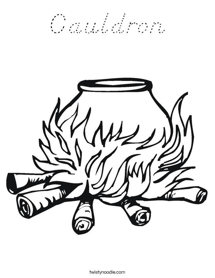 Cauldron Coloring Page