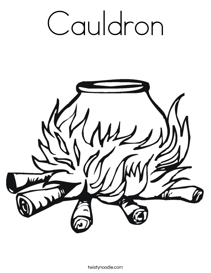 Cauldron Coloring Page - Twisty Noodle