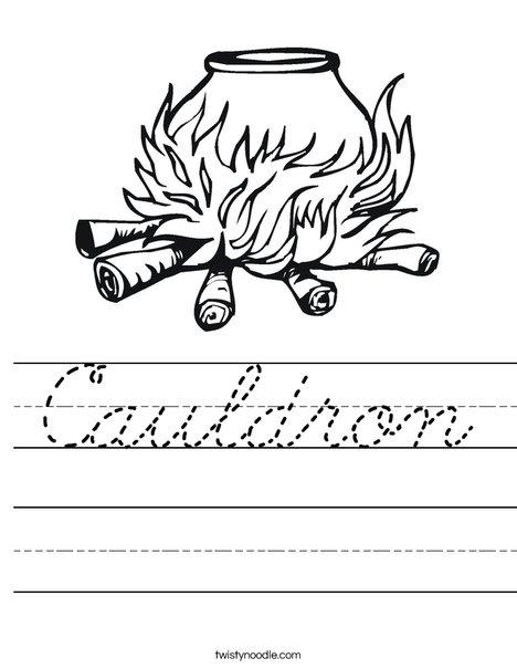 Cauldron Worksheet