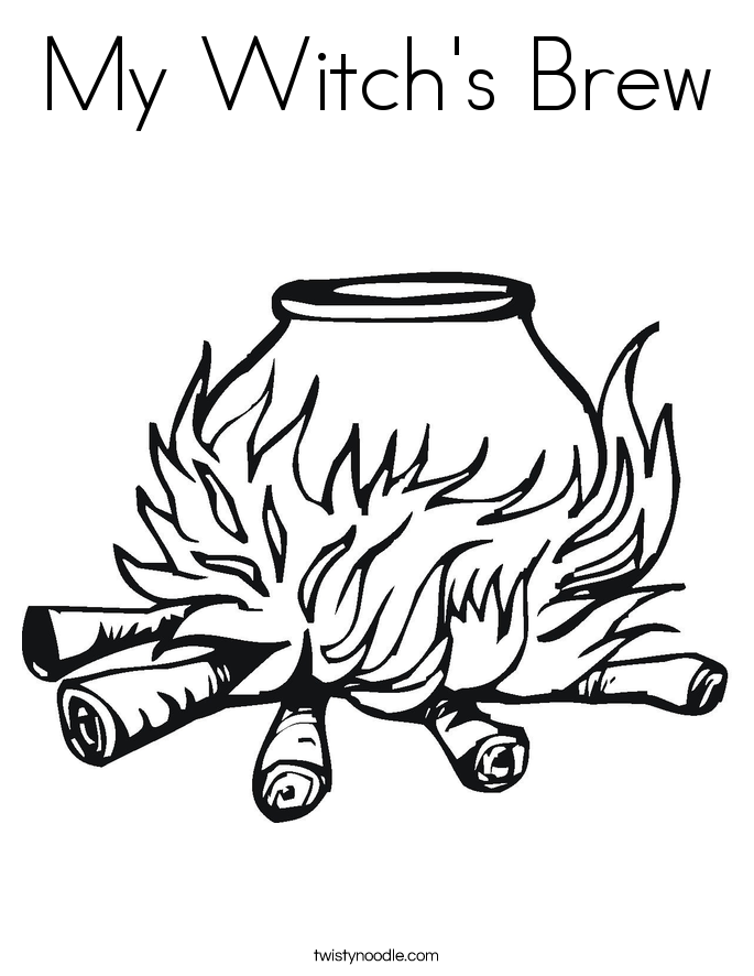 My Witch's Brew Coloring Page