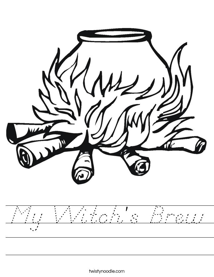 My Witch's Brew Worksheet