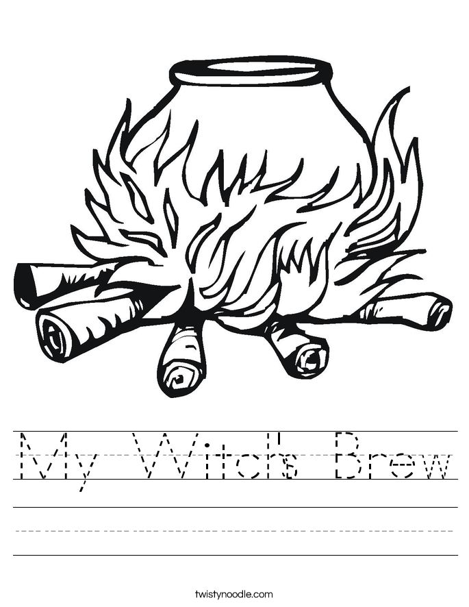 My Witch's Brew Worksheet