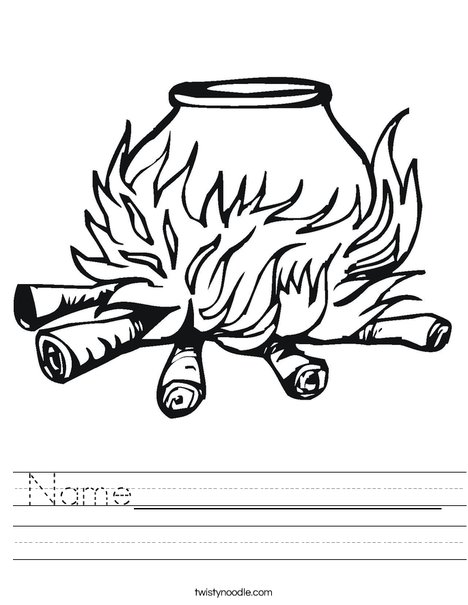 Cauldron Worksheet