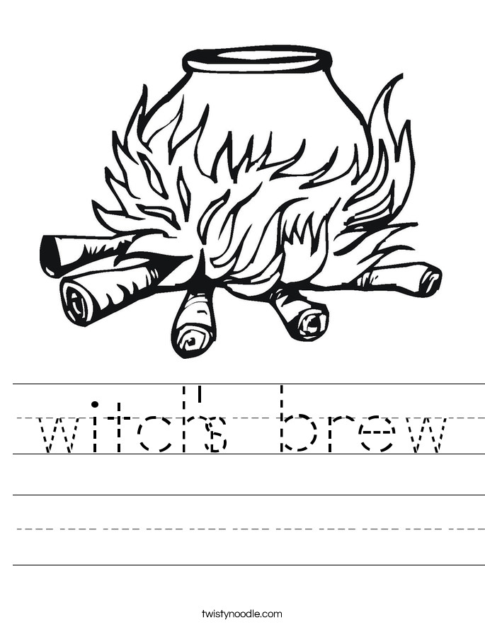 witch's brew Worksheet