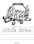 witch's brew Worksheet