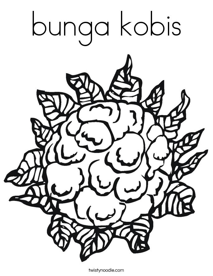 bunga kobis Coloring Page