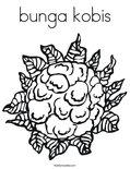 bunga kobisColoring Page