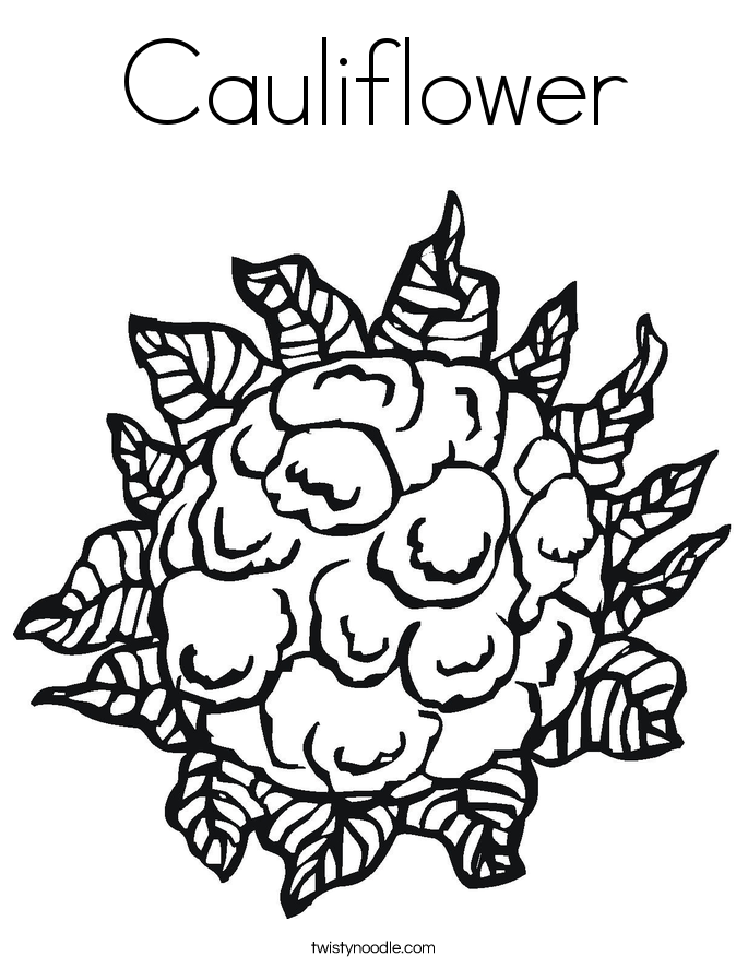 cauliflower coloring page