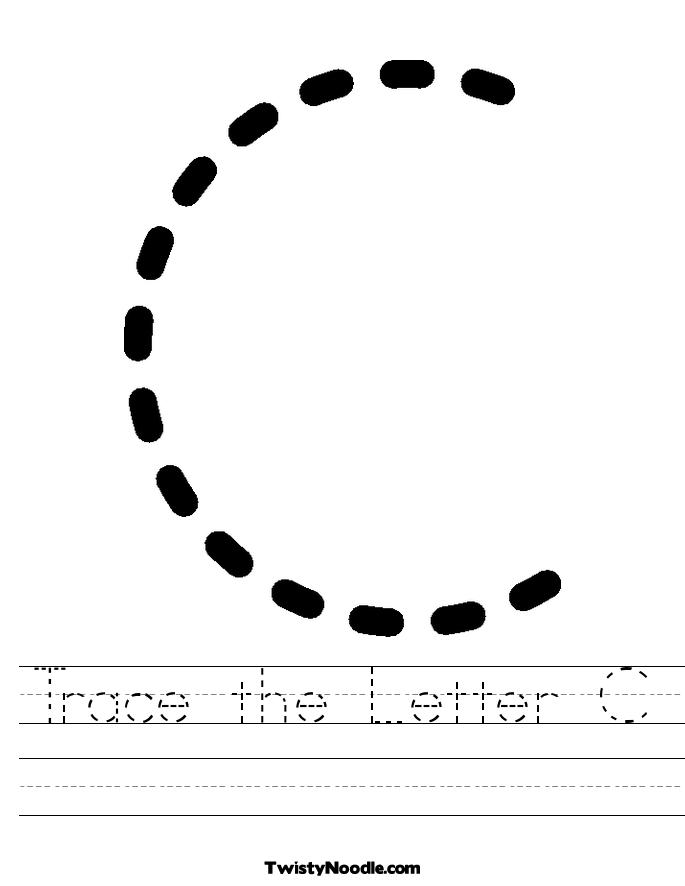 Tracing Letter C Worksheet