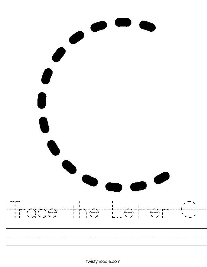 Trace the Letter C Worksheet