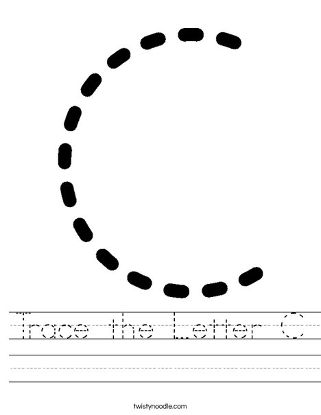 Trace the Letter C Worksheet - Twisty Noodle