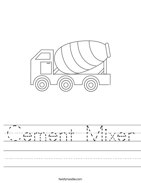 Cement Mixer Worksheet