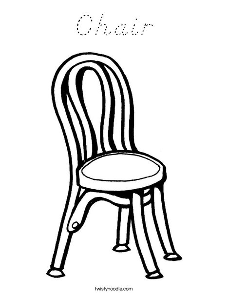 Chair Coloring Page