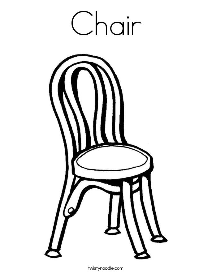 Chair coloring page twisty noodle for Sillas para colorear