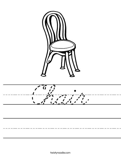 Chair Worksheet