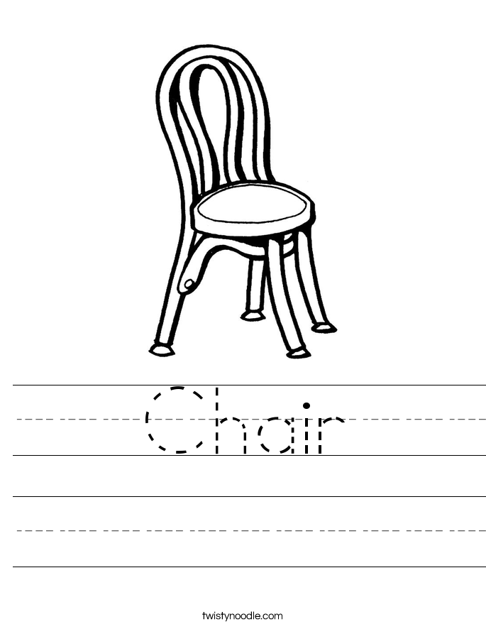 Chair Worksheet Twisty Noodle