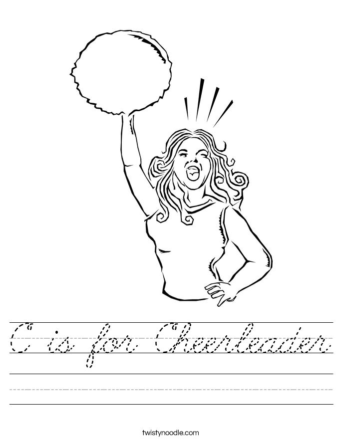 C is for Cheerleader Worksheet