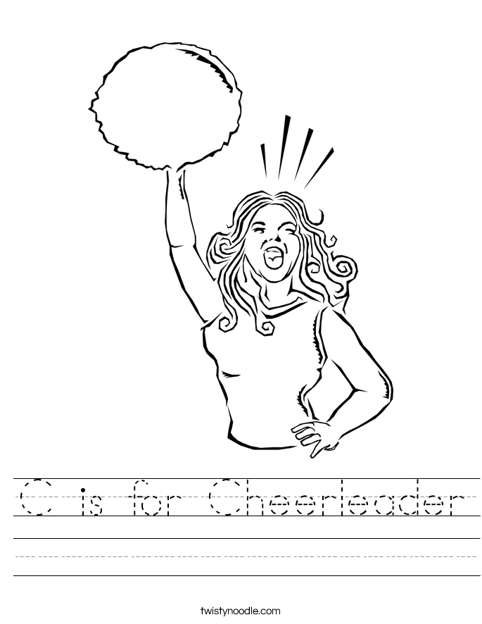 C is for Cheerleader Worksheet