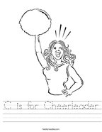 C is for Cheerleader Handwriting Sheet