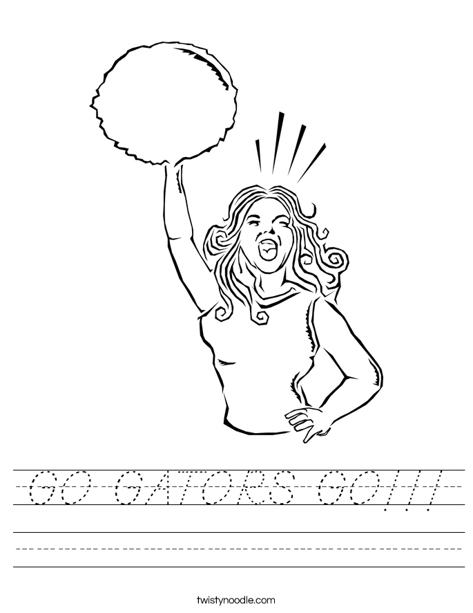 GO GATORS GO!!! Worksheet