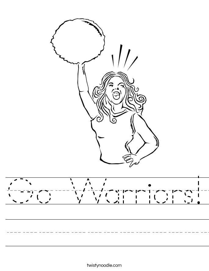 Go Warriors! Worksheet