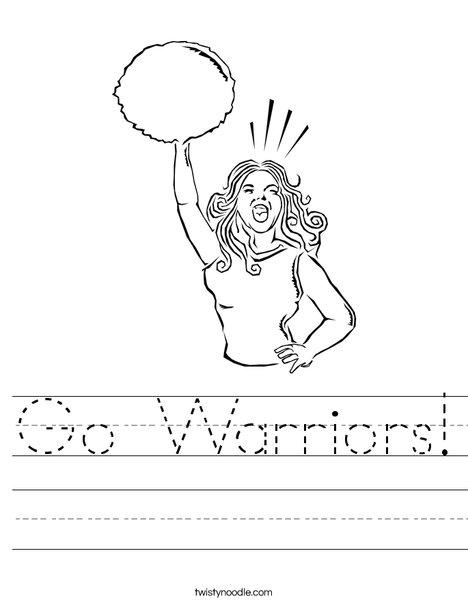 Cheerleader Yelling Worksheet