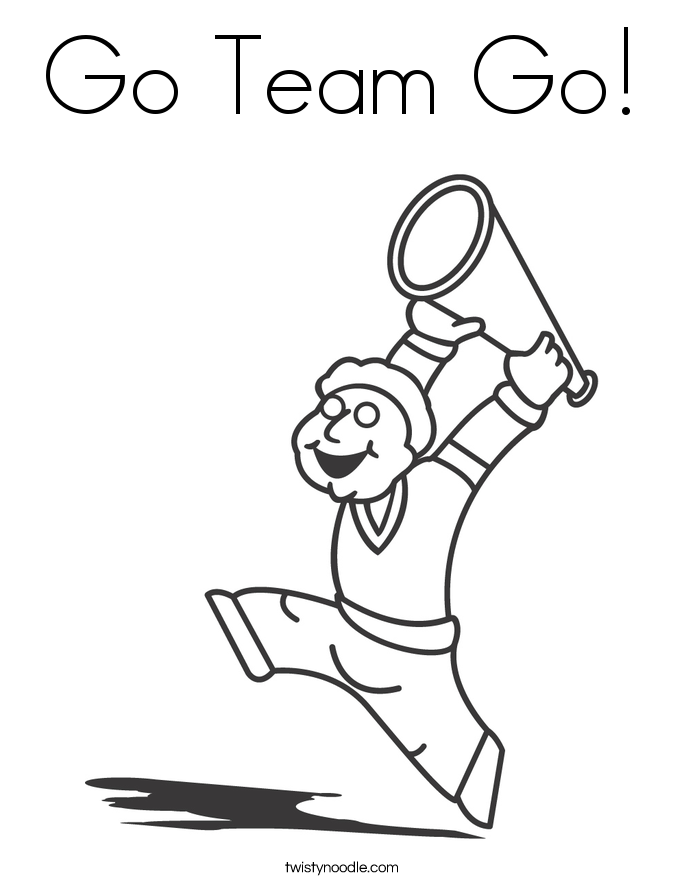 Go Team Go! Coloring Page