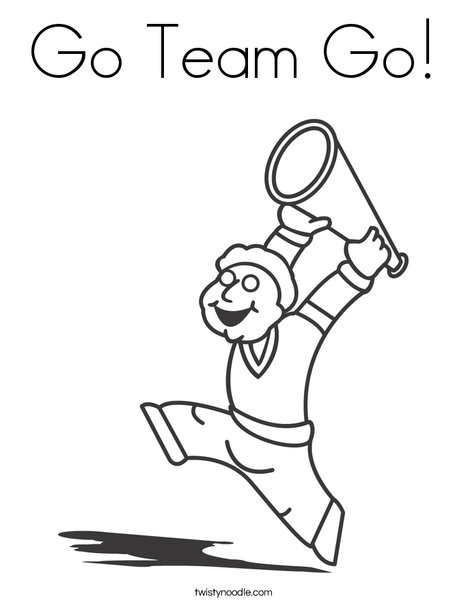 Boy Cheerleader Coloring Page