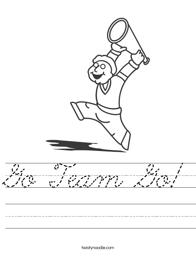 Go Team Go! Worksheet