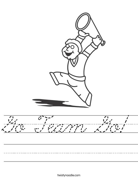Boy Cheerleader Worksheet