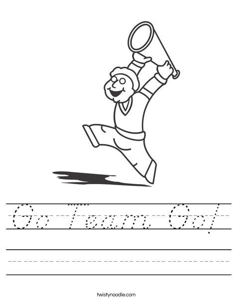 Boy Cheerleader Worksheet
