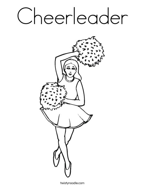 Cheerleader Coloring Page - Twisty Noodle