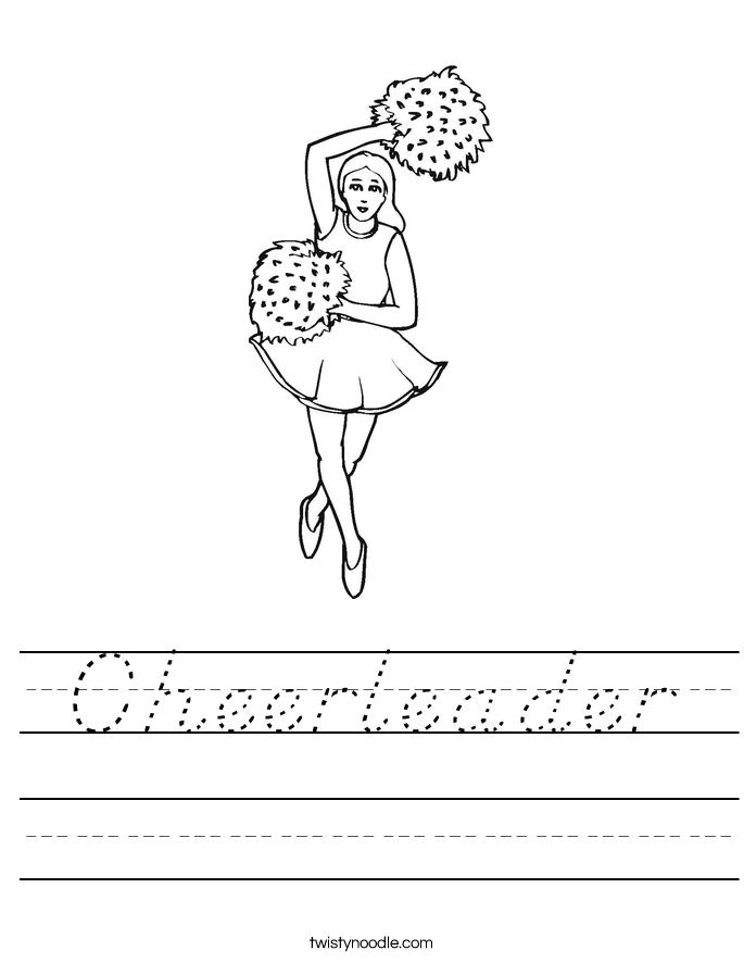 Cheerleader Worksheet