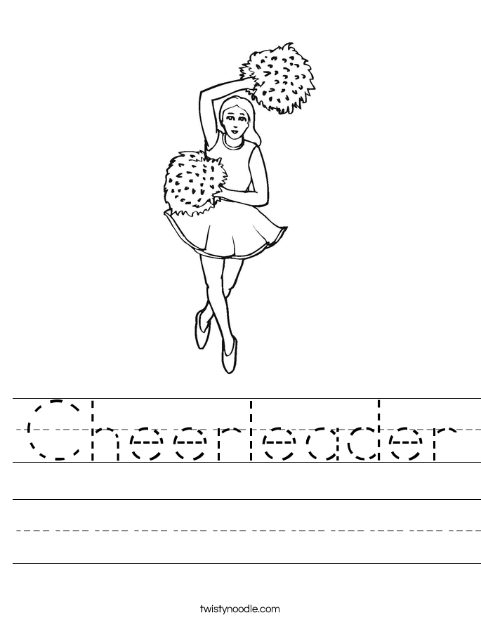Cheerleader Worksheet