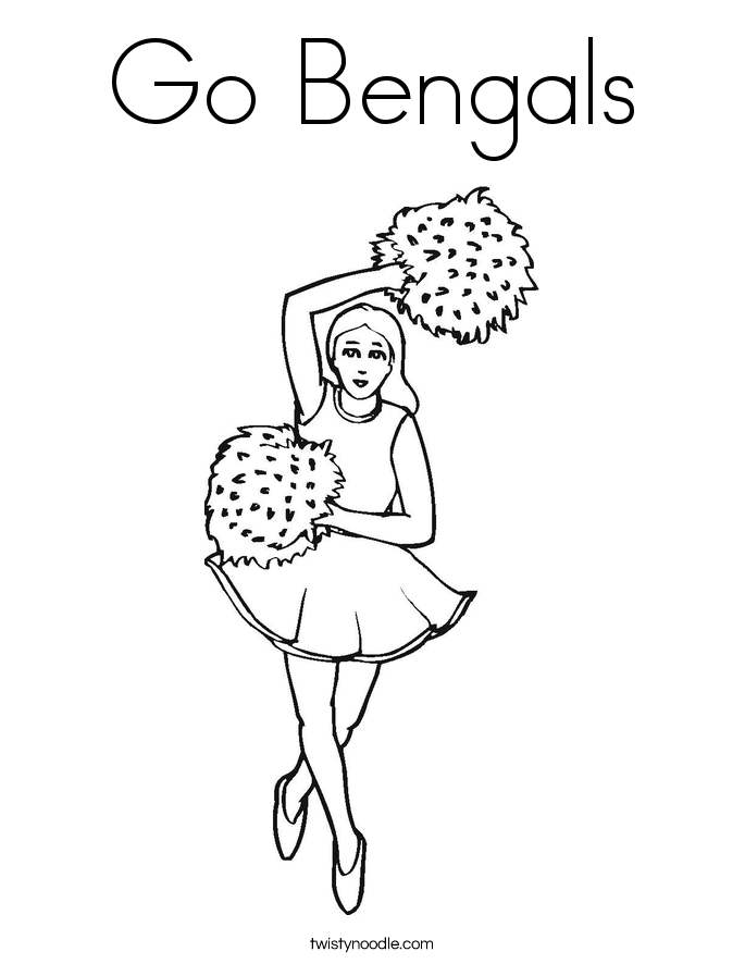 Go Bengals Coloring Page