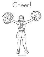 Cheer Coloring Page
