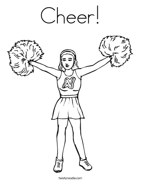 Cheerleader Coloring Sheet Jump