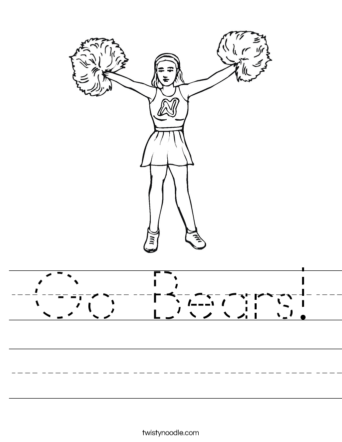 Go Bears! Worksheet