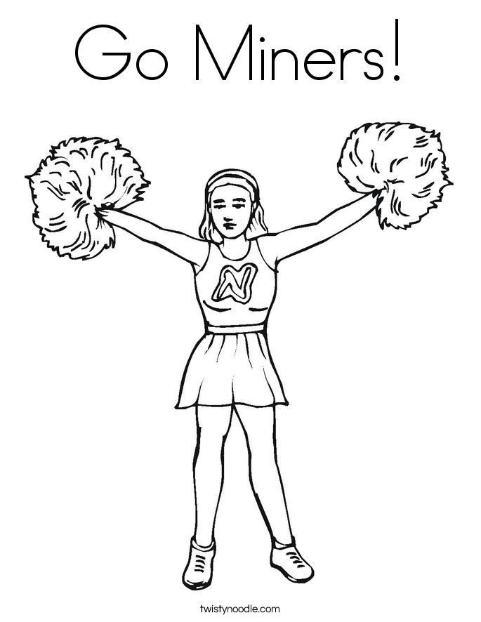 Go Miners! Coloring Page