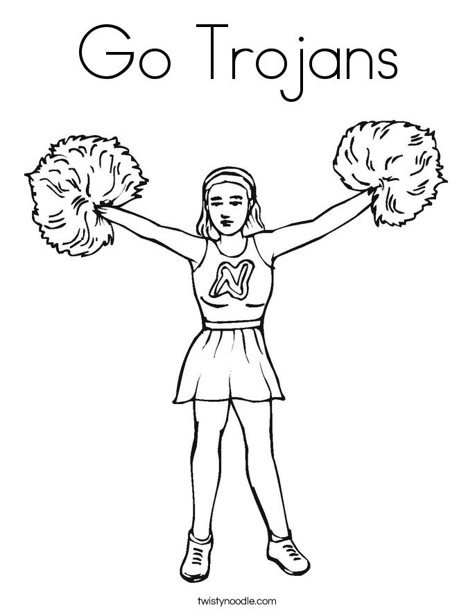 Go Trojans Coloring Page