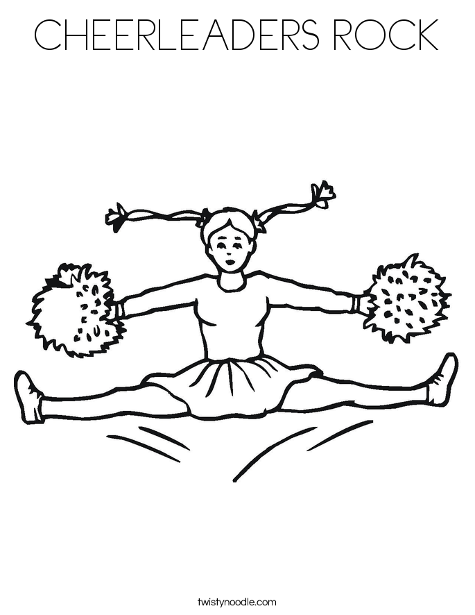 CHEERLEADERS ROCK Coloring Page