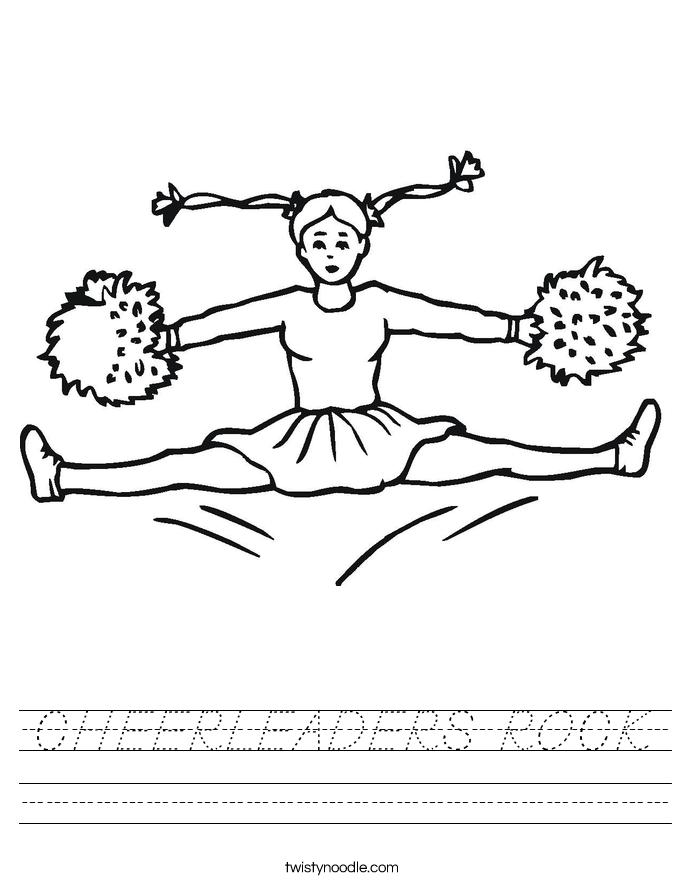 CHEERLEADERS ROCK Worksheet