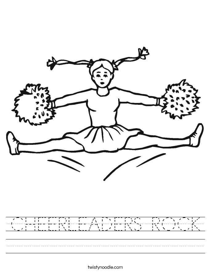 CHEERLEADERS ROCK Worksheet