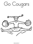 Go Cougars Coloring Page