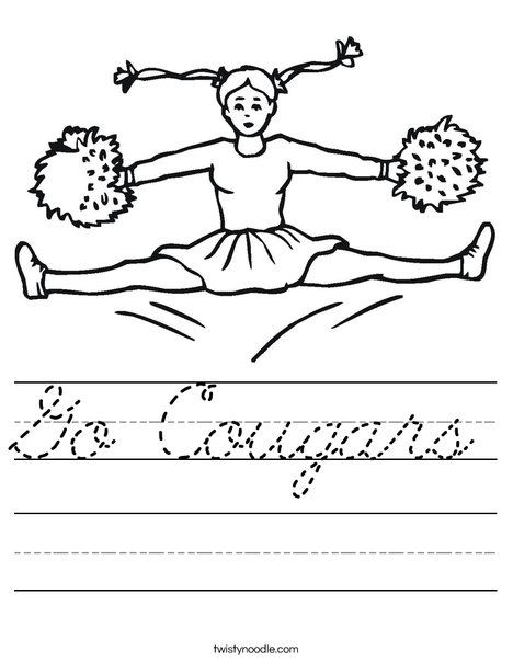 Cheerleader Jumping Worksheet