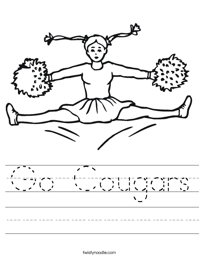 Go Cougars Worksheet